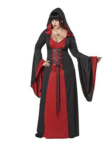 California Costumes Peignoir à Capuche pour Femme Rouge Grande taille Costume de déguisement XXXL 54-56