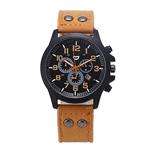 Relojes de pulsera para hombre 37mm Militar PUWaterproof Fecha Cuarzo Analógico MenQuartz Relojes de Pulsera Hombre Calendario Clásico Hombre Negocios