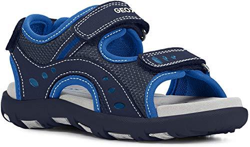 Geox Unisex - Kinder Sandalen JR Sandal PIANETA, Kinder-Schuhe toben Spielen verspielt detailreich Freizeit leger Halbschuh,Navy/ROYAL,39 EU / 6 UK