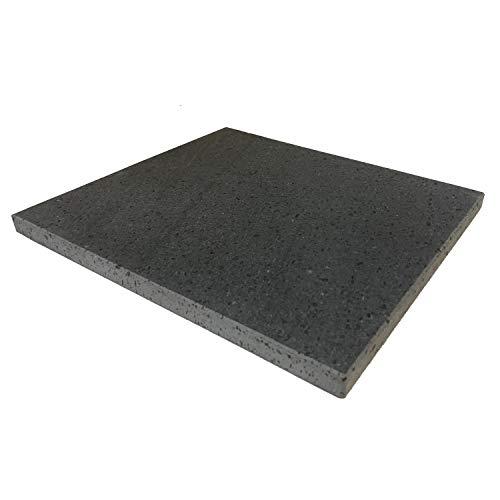 Lava Piedra del Ätna, Pulido, para Barbacoa, 39x 35cm, Ideal para Carne y Pescado
