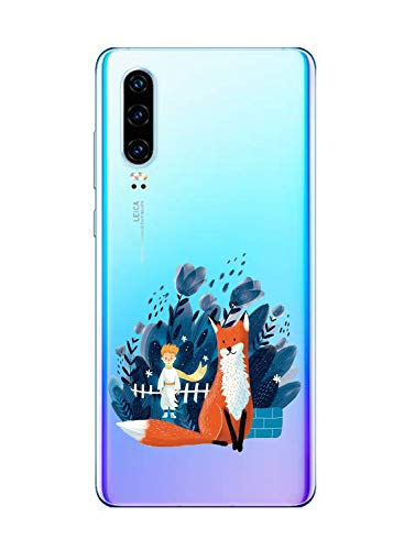 Oihxse Clair Case pour Huawei P Smart 2019/Honor 10 Lite Coque Ultra Mince Transparent Souple TPU Gel Silicone Protecteur Housse Mignon Motif Dessin Anti-Choc Étui Bumper Cover (A5)