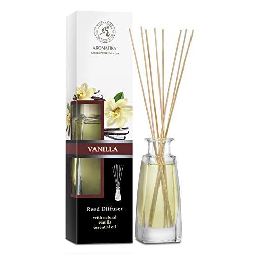 Difusor de Varillas Aromáticas Vainilla - 100ml - Difusores de Aromas - Aromaterapia - Difusor Perfumado - Ambientador de Varillas de Rattan - Varitas Aromáticas - Difusor con Palitos de Ratán
