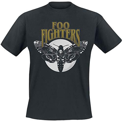 Foo Fighters Hawk Moth Uomo T-Shirt Nero L 100% Cotone Regular
