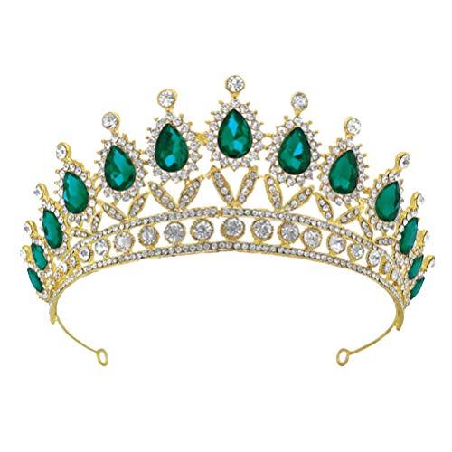 FRCOLOR Tiara de boda con estrás, para novia, princesa, joya para el...