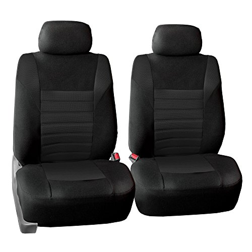 FH Group FB068BLACK102 Black Universal Bucket Seat Cover (Premium 3D Air mesh Design Airbag Compatible)