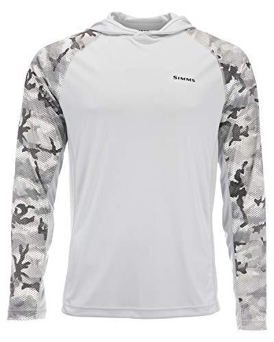 Simms Solarflex UPF 50+ Shirt, Long Sleeve, Hex Flo Camo Steel, Extra Large