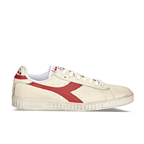 Diadora Unisex-Erwachsene Game L Low Waxed Sneaker, Weiß (White/RED Pepper C5147), 37 EU