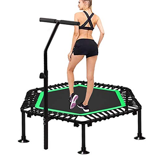 TXTC Fitness Trampoline For Adults, Foldable Trampoline With Adjustable Handrail, Rebounder Workout For Children Kids, Best Aerobic Exercise Fitness Equipment In The Home Outdoor (Color : B-45inch)