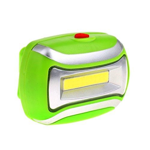 Generic Imperméable 600LM COB Lampe Frontale 3W LED Lumière Extérieur Mains Libres Course à Pied Nuit Sport Pêche Camping - Vert, 70 * 50 * 35mm
