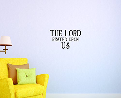 Motif Vinyle Avec 2 recharges de 2043 2 Hot nouveaux autocollants The Lord Reposé Upon US Décoration murale. Taille : 40,6 x 61 cm Couleur, 40,6 x 61 cm, Noir