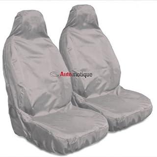 0-0 Premium Black SEAT Covers Blue Piping 1-1 Automotique DOBLO Van