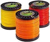 TeutoBrush - Hilo cortacésped, desbrozadora, bobina de 2,0 kg/Ø 2,4 mm, color naranja
