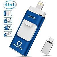 QARFEE 128GB USB 3.0 OTG Flash Drive for iPhone