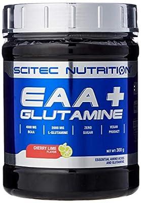Scitec Nutrition EAA + Glutamine (Glutamine Amino Acid Complex and Essential Aminos), Cherry Lime Flavor 300 g