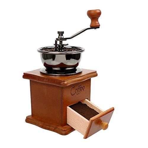 YOUG Hand-Kaffeemühle, aus Holz für Zuhause, Küchenwerkzeug, Kaffeebohnen, Fräsmühle manuelle Kaffeemühle aus Keramik