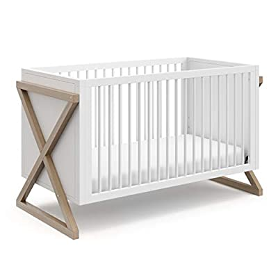 Storkcraft Equinox 3-in-1 Convertible Crib (Vintage Driftwood) – Easily Converts to Toddler Bed and Daybed, 3-Position Adjustable Mattress Support Base, Modern Two-Tone Design for Contemporary Nursery from Storkcraft