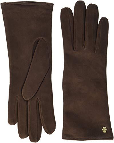 Roeckl Damen Edelklassiker Velours Handschuhe, Braun (Coffee 780), 8
