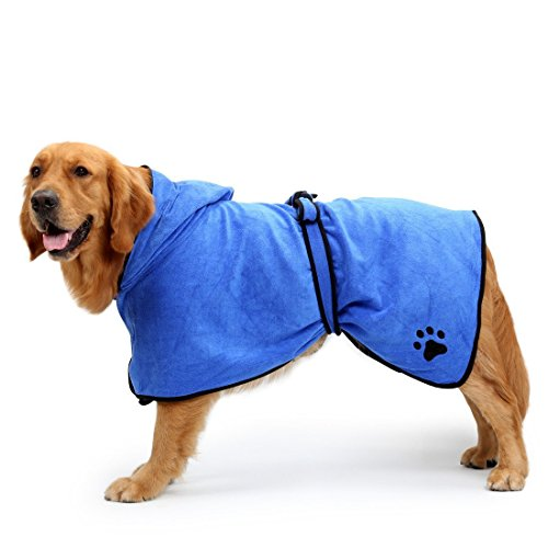 BONAWEN Dog Bathrobe