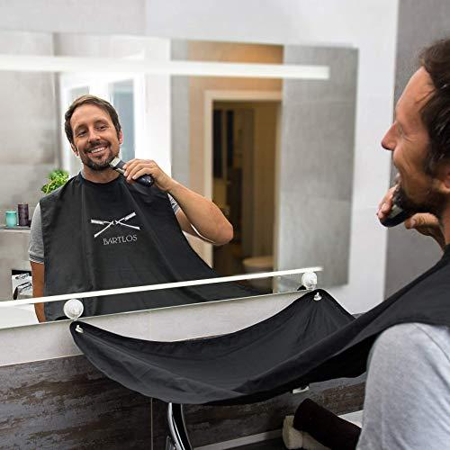 | Bartschürze | Das Barttuch von BARTLOS – für ein sauberes Bad nach der Rasur, egal ob Schneiden, Trimmen oder Stutzen | Bart Schürze | Rasiertuch | Bart Tuch |