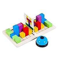 koolsoo 子供のためのブロックに対するベビーダブルビルディングブロックゲーム年齢3-10歳