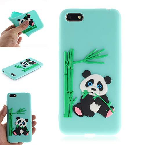 JCKHM Hülle kompatibel mit Huawei Y5 2018 Hülle Silikon,Panda isst Bambus-TPU-Schale Hülle Silikon Liquid Silikon Ultra dünn Komplettschutz Schutzhülle,Anti-fall Etui Weich stoßfest,Grün,EINWEG packet