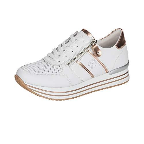 Remonte Damen Halbschuhe, Zapatos Bajos de Mujer D1310, weiß, 45 EU