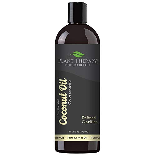 Plant Therapy Essential Oils Fractionated Coconut Oil for Skin, Hair, Body 100% Pure, Natural...