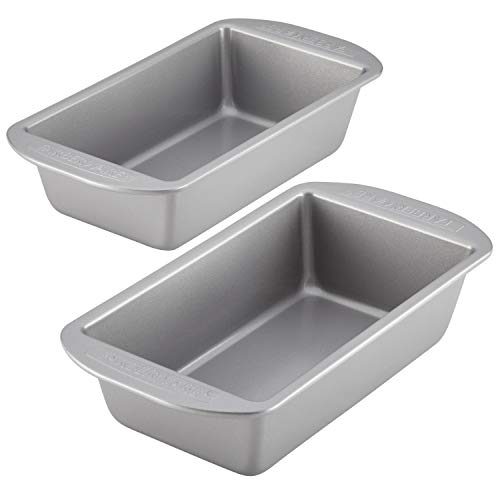 Farberware Bakeware Meatloaf/Nonstick Baking Loaf Pan Set, Two 9-Inch x 5-Inch, Gray