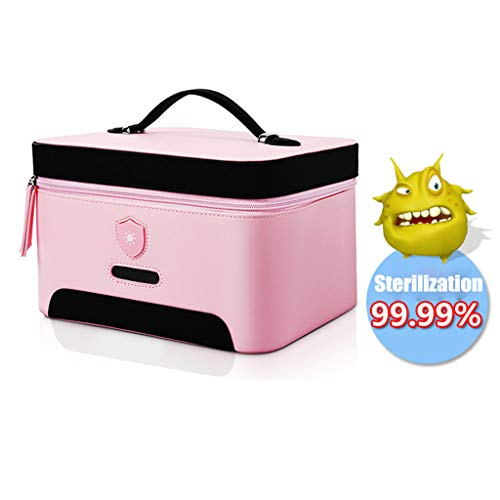 UVsterilisator Bag, draagbare USB oplaadbare LED UV Disinfect-Ion Bag voor Baby Bottle/Ondergoed/tandenborstel/Beauty Tools/Jewelry (Pink)
