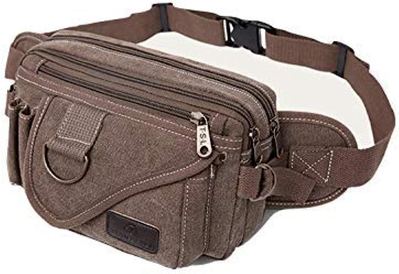 HUAIX Home Casual Bag Herren Gürteltasche Brusttasche Outdoor Sports Schulter Messenger Rucksack (Braun) B07L4CKRKM  Kostengünstig