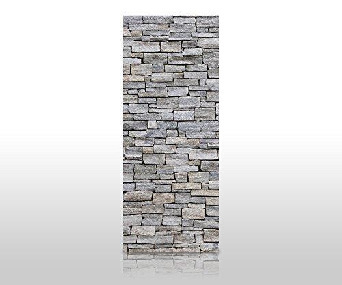 wandmotiv24 Duschrückwand Grober Stein Grau 80 x 200cm (B x H) - Acrylglas 4mm Duschwand Design, Wanddeko für Dusche & Bad, Fliesen-Abdeckung, Deko-Set Duschkabine M0311