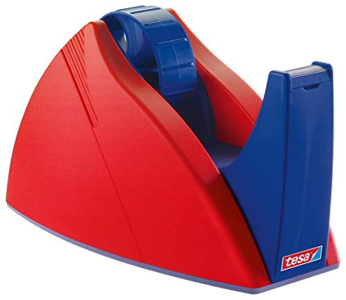 tesa 57422-00000-02 Abrollgeräte Tischabroller 66 m x 25 mm rot/blau, bis66m:25mm, 57422-00000-03