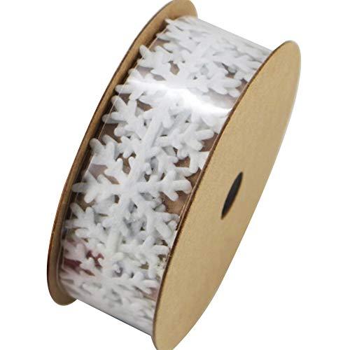 NaiCasy Craft Coser Fieltro de la Cinta del Copo de Nieve Adorno del Ajuste del cordón de DIY Coser Fieltro Apliques de Tela no Tejida guirnaldas