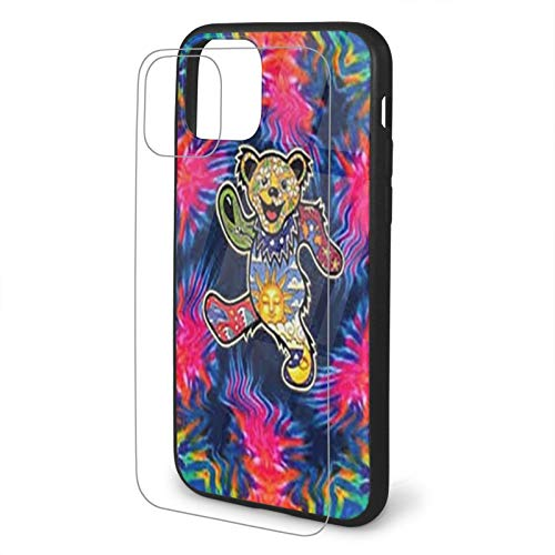 Grate-ful Dead Dancing Bear Tempered Glass iPhone 11 /Pro/Max Case,...