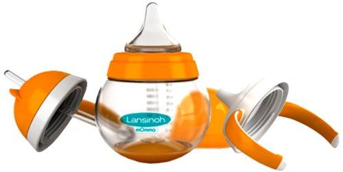Lansinoh 75810 Trinkset mit NaturalWave Sauger, Steh-auf-Becher, 3-Stufen, 250 ml