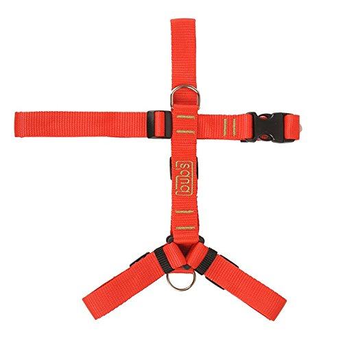 Bub's Not Pull, Harnais pour Chien de Grande/Moyenne Taille avec système Anti-Traction (contrôle Taille : Cou 43 à 74 cm, Poitrine de 59 à 94 cm) (Rouge)