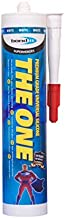The One - Premium Grade Universal 100% Silicone Sealant Caulk - Contains Powerful Fungicide, 10yr No Mold Guarantee! Quick Drying, Indoor/Outdoor Rated for 20yrs - 10.5oz Cartridge (Clear)