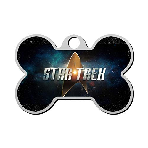 Wendy Star-Trek- Pet Custom ID tag Dog Tags & Cat Tags, Animal Pet ID Tag with Contact Information Personalized Print Front and Back Bone Shape