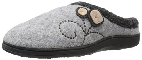 Acorn Women's Dara Slipper, Light Grey Button, Medium