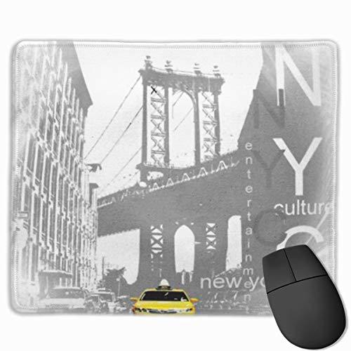 Bonita alfombrilla de ratón para juegos, alfombrilla de escritorio, alfombrilla de ratón pequeña para ordenadores portátiles, alfombrilla de ratón Newyork New York City NYC Yellow Taxi Brooklyn EE. UU
