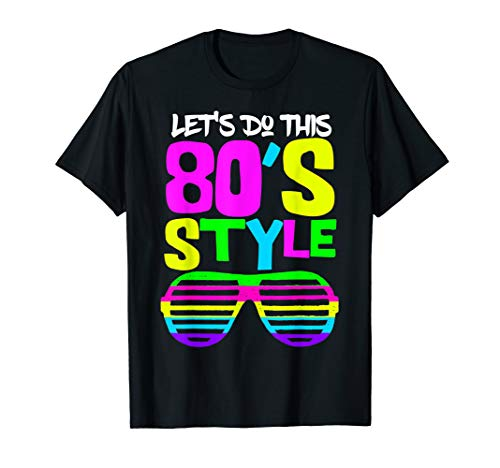 80er-Jahre Stil | 80er Retro Party Wear Kostüm Outfit Tee