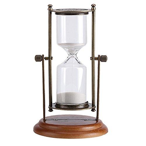 Metall Sanduhr Glas Uhr Sanduhr mit 15 Minuten Zeitintervall Schreibtisch Couchtisch Bücherregal Curio Schrank Weihnachten Geburtstag Dekor Geschenk vorhanden für Geschenke Home Office Desktop Dekor