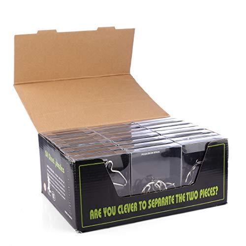 BOROK 24 Pezzi Rompicapo Puzzle Giocattoli Gioco di Puzzle 3D Puzzle Idea Regalo Calendario dell'Avvento per Uomini, Donne o Bambini