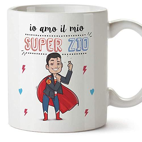 Mugffins Zio Tazza/Mug - Io Amo Il Mio Super Zio - Idea Regalo Originale Di Compleanno - Tazza Miglior Zio In Ceramica. 350 Ml