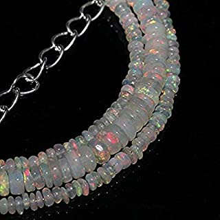 "Jewel Beads Natural Beautiful jewellery Natural Ethiopian Welo Fire Opal Rondelle Beads SIZE: 2 MM TO 4 MM NECKLACE LENGTH: 18""NecklaceCode:- JBB-9152"