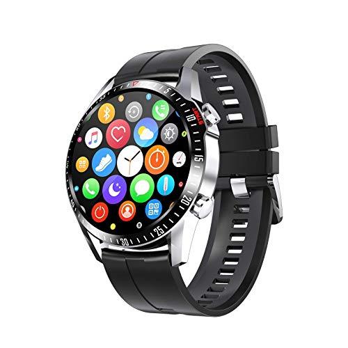 OH Exquisito Reloj Inteligente para Hombres, Pantalla Táctil Completa Tracker Rastreador Monitor de Ritmo Cardíaco Presión Arterial Fitness Smartwatch, Cronómetro Step Counter Sleep