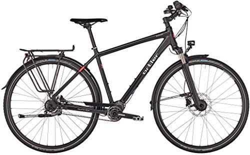 Ortler Perigor 2019 - Bicicleta de Trekking para Hombre (12 Marchas), Color Negro Mate