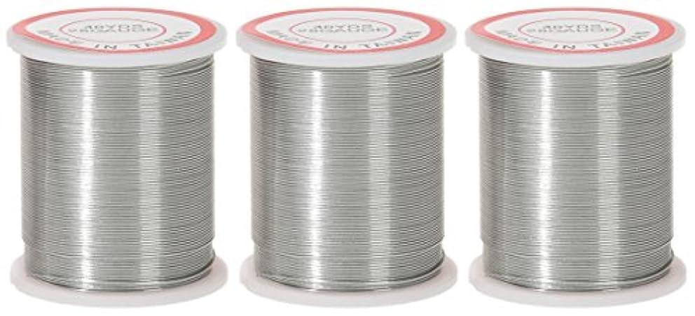 3-PACK - Darice 28-Gauge Beading Wire, 40-Yard, Silver