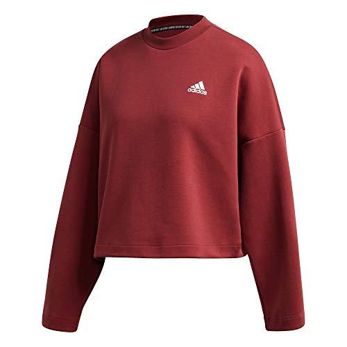 adidas Damska bluza W 3S DK Crew, czerwona (rojleg), 2XL