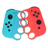 Grip Kit RGEEK Joy-Con Grip Compatible with Nintendo Switch Controller Fitness Boxing Game, Comfort Handle for Kids Family Fun Special for Fitness Boxing (Red and Blue)